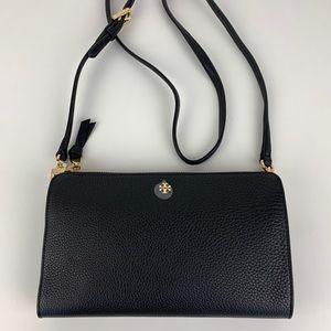 New Tory Burch Robinson Black Crossbody Bag